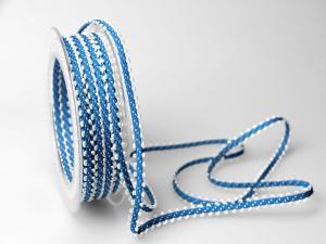 Dekoband Minna 7mm blau ohne Draht - Dekoband günstig online kaufen!