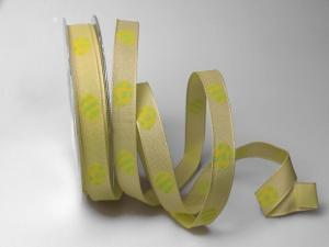 Dekoband Osterei hellgrün 15mm mit Draht