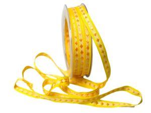 Dekoband Raute gelb 10mm ohne Draht - Dekoband günstig online kaufen!