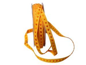 Dekoband Raute orange 10mm ohne Draht - Dekoband günstig online kaufen!