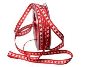 Dekoband Raute rot 10mm ohne Draht