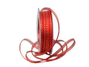 Dekoband Redorange 5mm rot ohne Draht