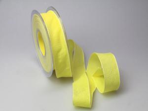 Dekoband Rustico gelb 25mm ohne Draht