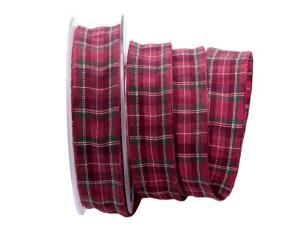 Dekoband Schottenkaro 25mm pink mit Draht - Geschenkband günstig online kaufen!