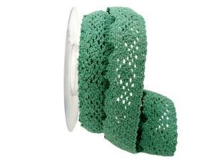 Dekoband Spitze 40mm grün ohne Draht