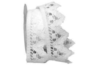 Dekoband Spitze 55mm weiß ohne Draht