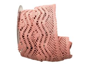 Dekoband Spitze 65mm rosa ohne Draht
