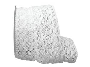 Dekoband Spitze 65mm weiß ohne Draht