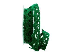 Dekoband Spitze grün 25mm ohne Draht - Dekoband günstig online kaufen!
