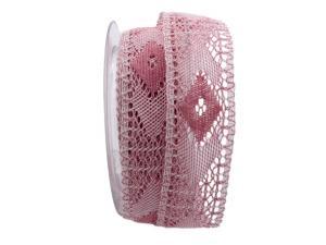 Dekoband Spitze rosa 40mm ohne Draht - Dekoband günstig online kaufen!