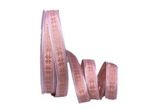 Dekoband Traditional rosa 15mm ohne Draht