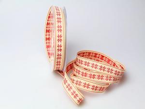 Dekoband Traditional rot 15mm ohne Draht