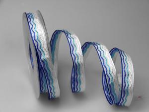Dekoband Waves blau 15mm mit Draht - Dekoband günstig online kaufen!