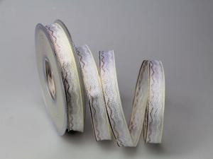 Dekoband Waves creme 15mm mit Draht - Dekoband günstig online kaufen!