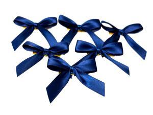 Fertigschleife 2-Flügel dunkelblau 15mm 25 Stück - im Bänder Großhandel günstig kaufen!