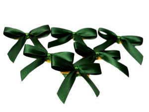 Fertigschleife 2-Flügel dunkelgrün 15mm 25 Stück - im Bänder Großhandel günstig kaufen!