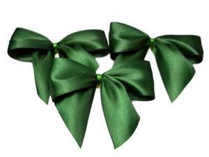 Fertigschleife 2-Flügel dunkelgrün 25mm 25 Stück - im Bänder Großhandel günstig kaufen!