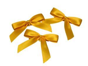 Fertigschleife 2-Flügel gelb 15mm 25 Stück - im Bänder Großhandel günstig kaufen!