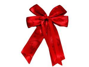 Fertigschleife 4-Flügel Herz mit Satinband rot 10 Stück - im Bänder Großhandel günstig kaufen!