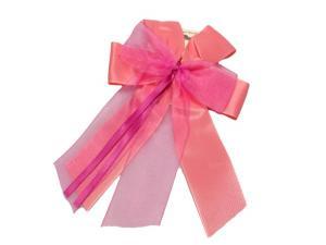 Fertigschleife 6-Flügel mit Satinband pink 10 Stück - im Bänder Großhandel günstig kaufen!