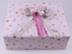 Geschenkpapier-Set Baby rosa - Geschenkband günstig online kaufen!