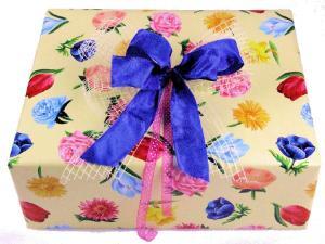 Geschenkpapier-Set Blumen - Geschenkband günstig online kaufen!