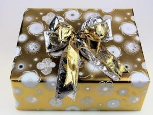 Geschenkpapier-Set Circle gold