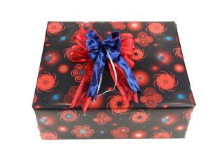 Geschenkpapier-Set Circle rot 10m - Geschenkband günstig online kaufen!
