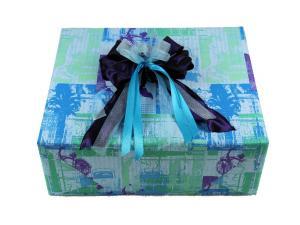 Geschenkpapier Future blau - Schleifenband günstig online kaufen!