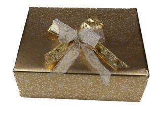 Geschenkpapier-Set kleine Sterne gold - Geschenkband günstig online kaufen!