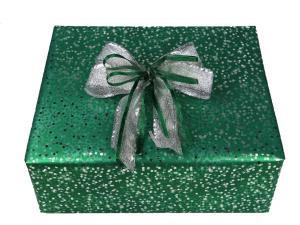 Geschenkpapier-Set kleine Sterne grün