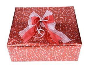 Geschenkpapier-Set kleine Sterne rot
