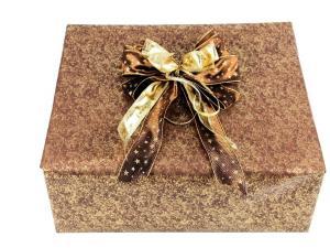 Geschenkpapier-Set mamoriert braun - Geschenkband günstig online kaufen!