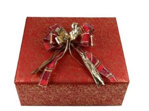 Geschenkpapier-Set mamoriert rot - Geschenkband günstig online kaufen!