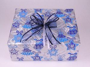 Geschenkpapier-Set moderner Stern blau - Geschenkband günstig online kaufen!