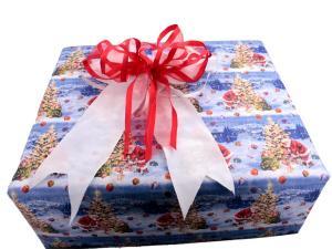 Geschenkpapier Nikolaus blau
