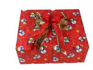 Geschenkpapier-Set Schneemann rot - Geschenkband günstig online kaufen!