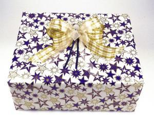 Geschenkpapier-Set Stern blau - Schleifenband günstig online kaufen!