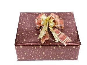 Geschenkpapier-Stern Sterne braun