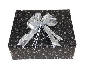 Geschenkpapier-Set Sterne schwarz - Geschenkband günstig online kaufen!