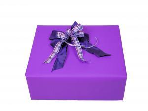 Geschenkpapier-Set Unifarben lila - Geschenkband günstig online kaufen!