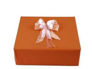 Geschenkpapier-Set Unifarben orange - Schleifenband günstig online kaufen!