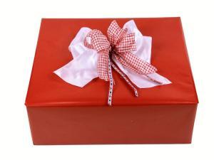Geschenkpapier-Set Unifarben rot - Geschenkband günstig online kaufen!