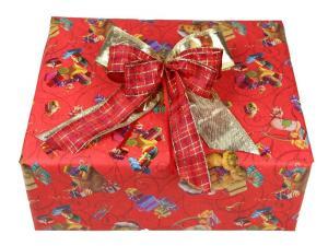 Geschenkpapier-Set Weihnachtsbär rot