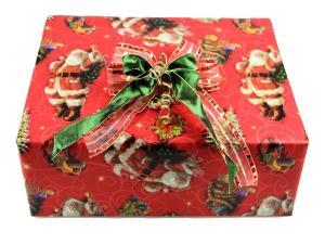 Geschenkpapier-Set Weihnachtsmann rot - Geschenkband günstig online kaufen!