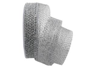 Gitterband Glitzer Silber ohne Draht 25 mm