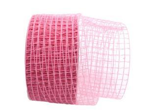 Gitterband Grobgitter rosa 65mm ohne Draht