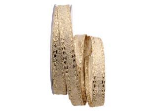 Goldband Diamant gold 15mm ohne Draht