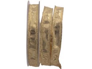 Goldband Klondyke Gold mit Draht 15mm