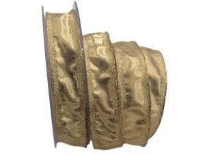 Goldband Klondyke Gold mit Draht 25mm